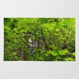 Neon Leaf Forest Rug