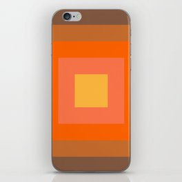 Warm Orange iPhone Skin