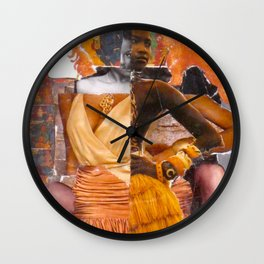Hybridity, Race and Womanhood: Selves (Detail 5) Wall Clock