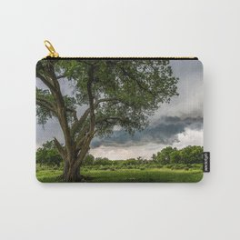 Big Tree - Tall Cottonwood and Passing Storm in Texas Carry-All Pouch