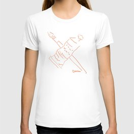 Metaphysical Penguin Artist Brush & Paint Tube T-shirt