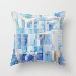 Abstract blue pattern 2 Throw Pillow