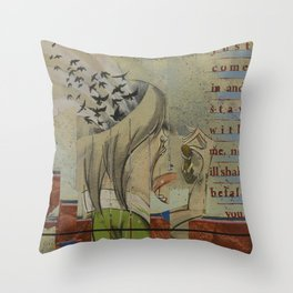 Breadcrumbs: Hansel and Gretel Throw Pillow