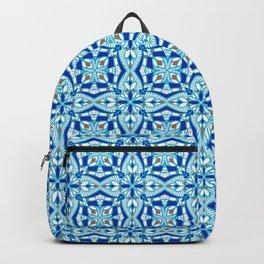 Mediterranean blue tiles Backpack