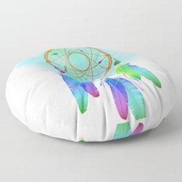 Dream  catcher, feathers and mandala boho. Dreamcatcher. Floor Pillow