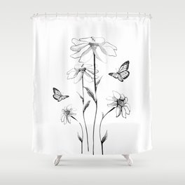 Flowers and butterflies 2 Shower Curtain