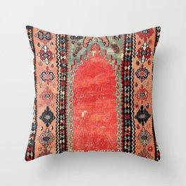Sivas  Antique Cappadocian Turkish Niche Kilim Print Throw Pillow