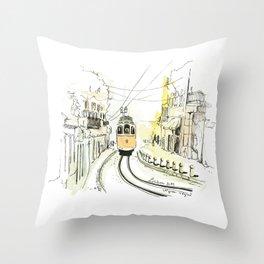 Lisbon Aquarelle No.2 Throw Pillow