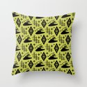 Mid Century Modern Boomerang Abstract Pattern Chartreuse and Black 361 by tonymagner