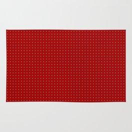 Holiday Red Poka Dot pattern Rug