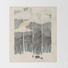 Spring Mountain Weather Throw Blanket