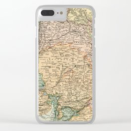 Vintage and Retro Map of India Clear iPhone Case
