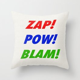 Zap! Pow! Blam! Throw Pillow