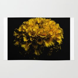 Beautiful Yellow Flower Rug