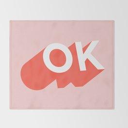 OK Throw Blanket