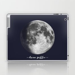 Waxing Gibbous Moon on Navy Latin Laptop & iPad Skin