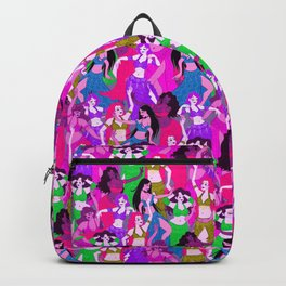 Belly Dancers - Psychedelic Neon Backpack
