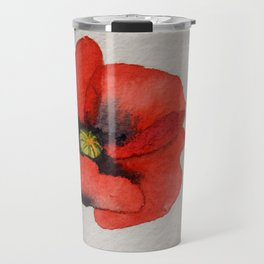 Watercolour Poppies Travel Mug
