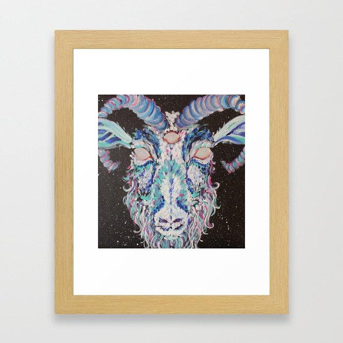 Don't Feed the Goats Framed Art Print