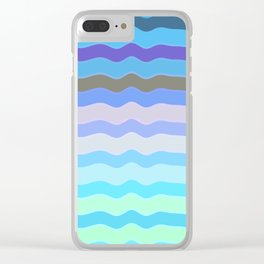 Bright Blue Bars Clear iPhone Case