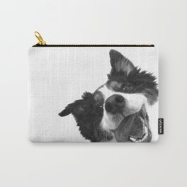 Black and White Happy Dog Carry-All Pouch