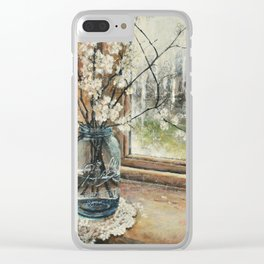 plum blossoms Clear iPhone Case