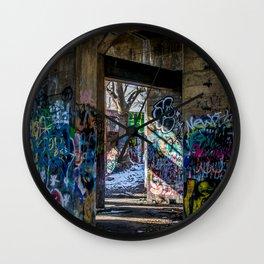 Graffiti Playground Wall Clock