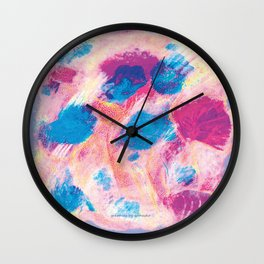 Colours of summer 1 -Abstract pattern Wall Clock