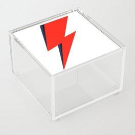 Red Bowie David Lightning Bolt Acrylic Box