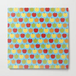 Apples Over Blue Metal Print