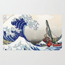 Legend of Zelda Great Wave Windwaker - the great wave off kanagawa Rug