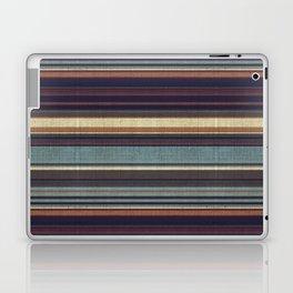 """Blue lines burlap"" Laptop & iPad Skin"