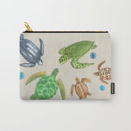 Sea Turtle Types Carry-All Pouch