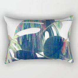 Magic Monstera Leaves Rectangular Pillow