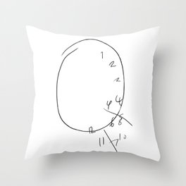 Will Graham - The Clock Throw Pillow