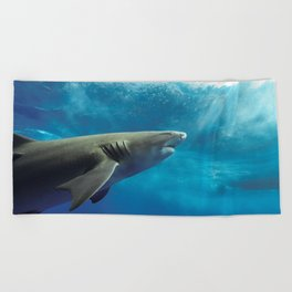 Lemon Shark Rising Beach Towel
