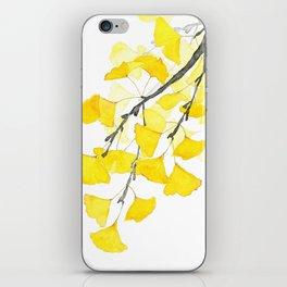 Golden Ginkgo Leaves iPhone Skin