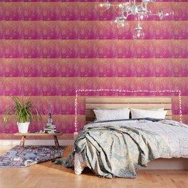 Santa Fe Garden – Pink Sunset Wallpaper