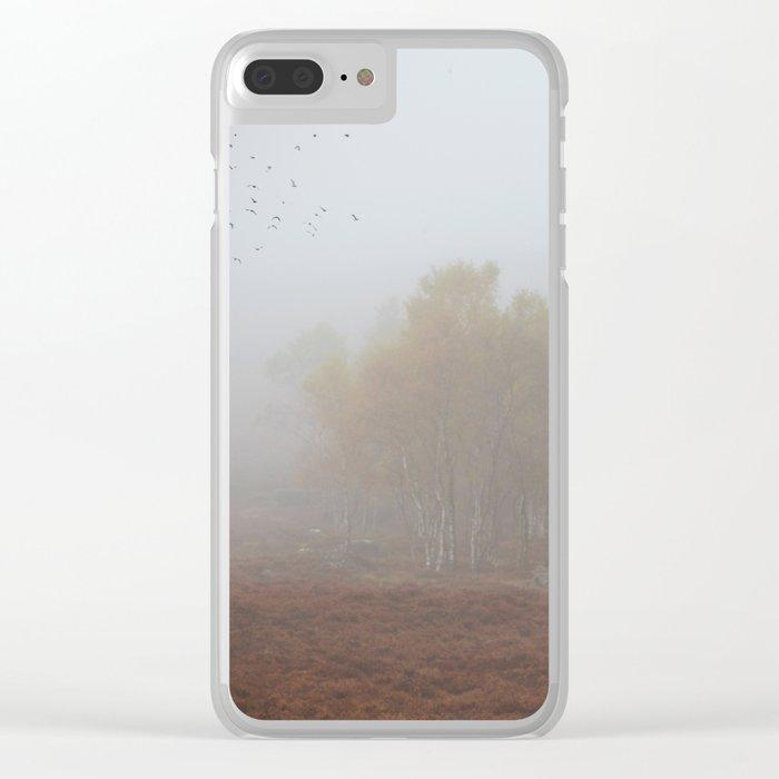 Autumn Mists Clear iPhone Case