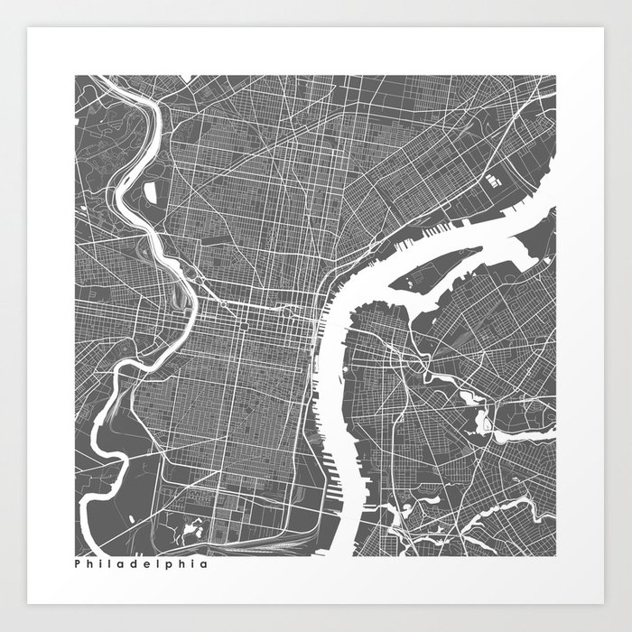 Philadelphia usa modern map art print art print by myplaceprints philadelphia usa modern map art print art print by myplaceprints society6 freerunsca Gallery