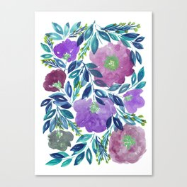 hand painted flowers_1b Canvas Print