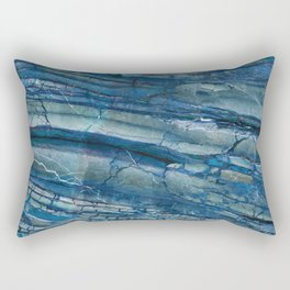 Giusto Azzurro blue marble Rectangular Pillow