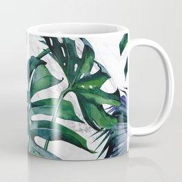 Tropical Palm Leaves Classic on Marble Coffee Mug
