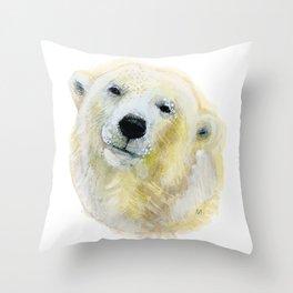 Polar Beary Throw Pillow