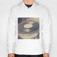 vinyl Hoodies featuring Vinyl  by Caroline Mint