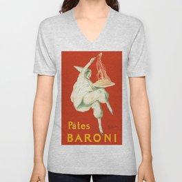 Vintage poster - Pates Baroni Unisex V-Neck