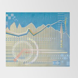 financial background Throw Blanket