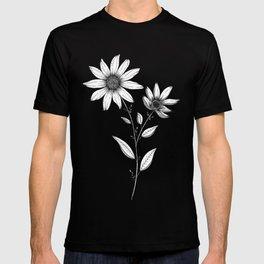 Wildflower line drawing   Botanical Art T-shirt