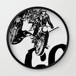 The Horde Motorcycle Art Print Wall Clock