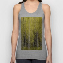 Lovely spring atmosphere - vibrant green leaves on the trees - beautiful birch grove Unisex Tank Top